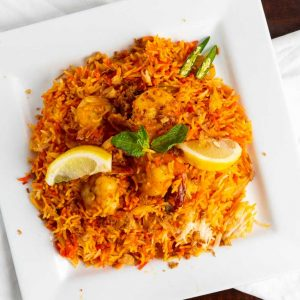 Gateway To India Restaurant | Shrimp Biryani